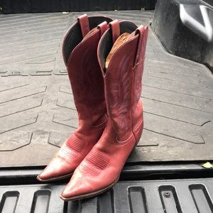 Charlie 1 horse red cowboy boots size 10